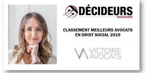 Classement Décideurs 2019 Droit Social Marylaure Méolans