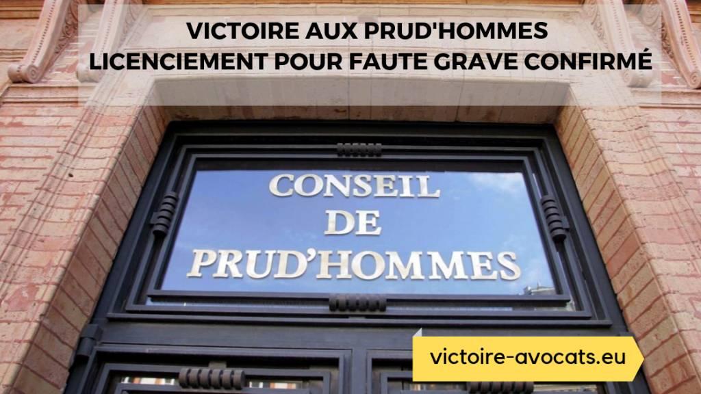 Victoire aux Prud'hommes